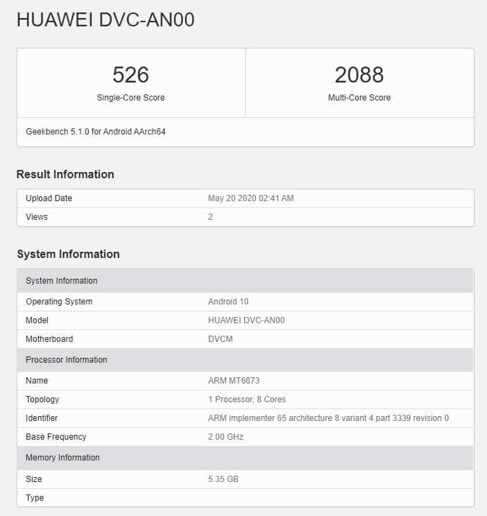 huawei, mediatek dimensity 800