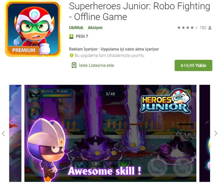 Superheroes Junior: Robo Fighting - Offline Game