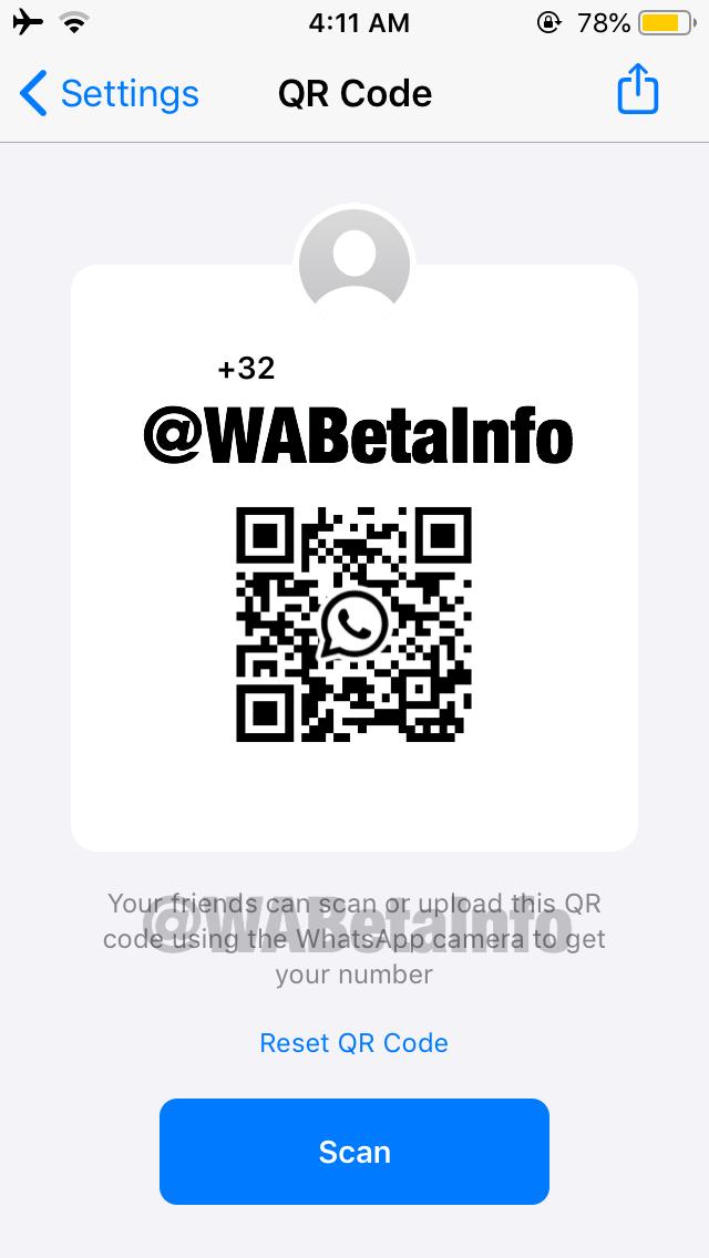 WhatsApp QR kod