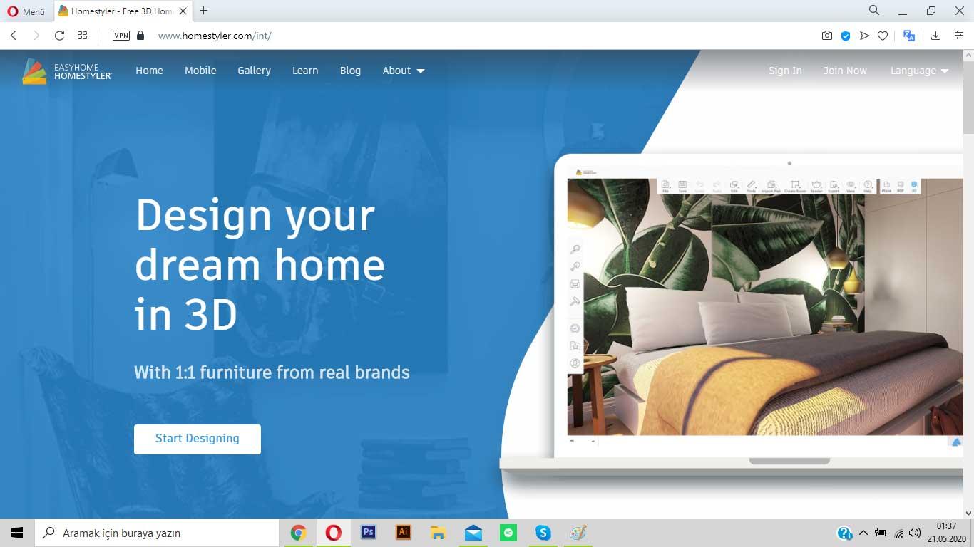 homestyler.com ile odanı baştan yarat