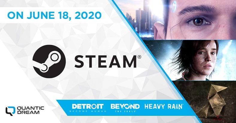 quantic dream oyunları, steam