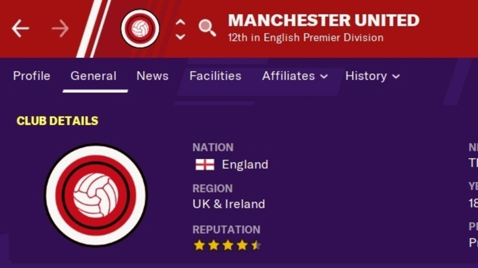 Footbal manager görüntüsü