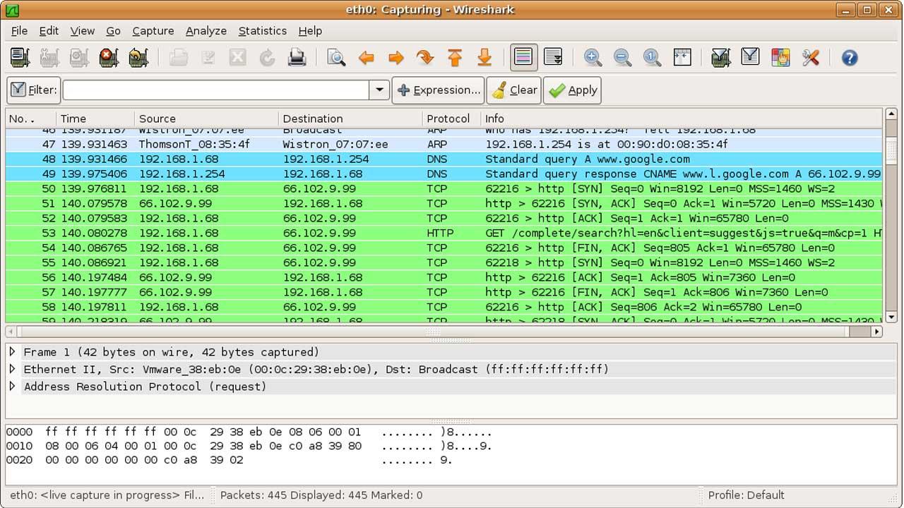 Wireshark hack programı