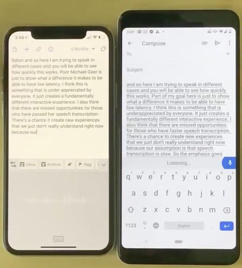 pixel 3 iphone 11 transkripsiyon