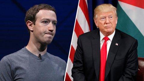 Marc Zuckerberg Donald Trump