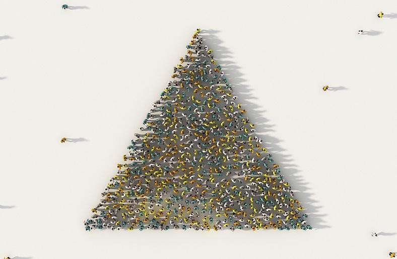 piramitin inşaatı, işçi sayısı