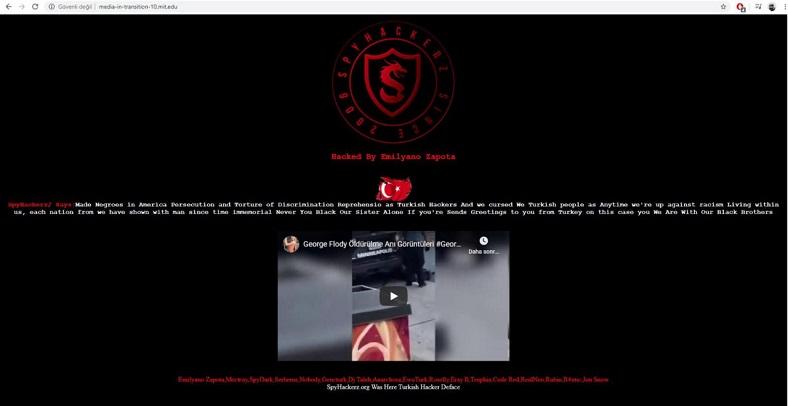 türk hacker, mit sitesi