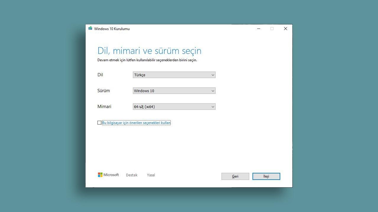 windows 10 dil ayarları