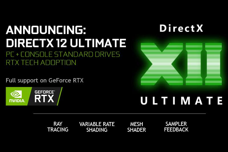 DirectX 12 Ultimate GeForce RTX desteği