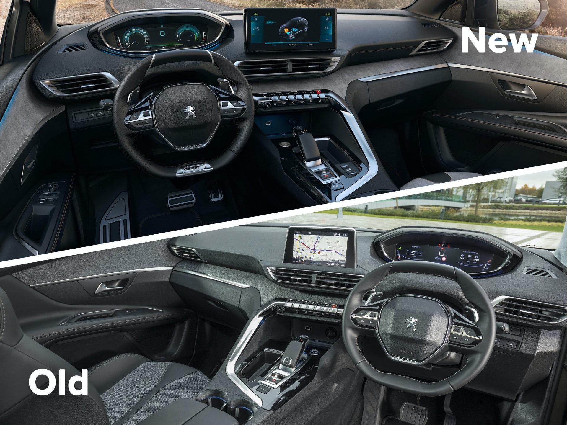 2021 Peugeot 3008 iç karşılaştırma