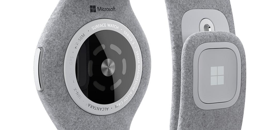 Microsoft Surface Watch arkası