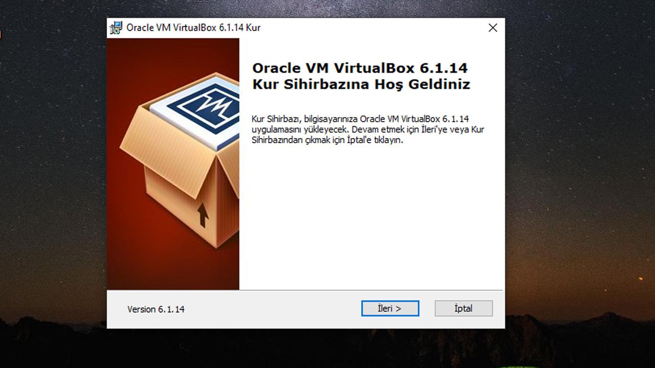virtualbox indirme