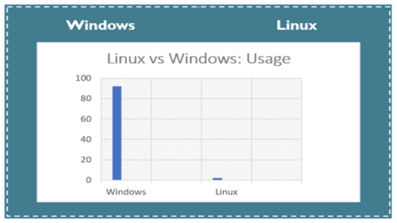 windows vs linux kullanım