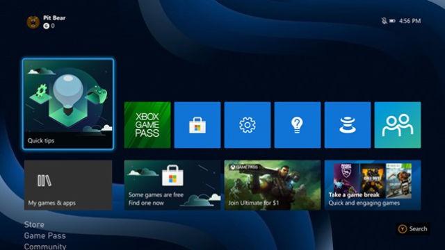 Xbox arayüzü