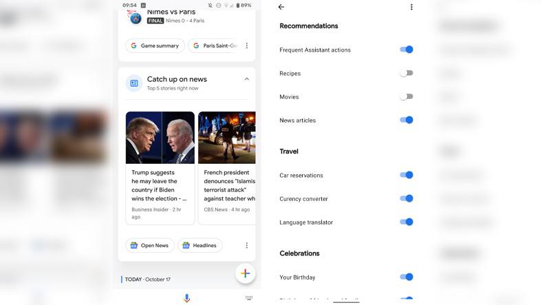 google asistan snapshot haber kartı