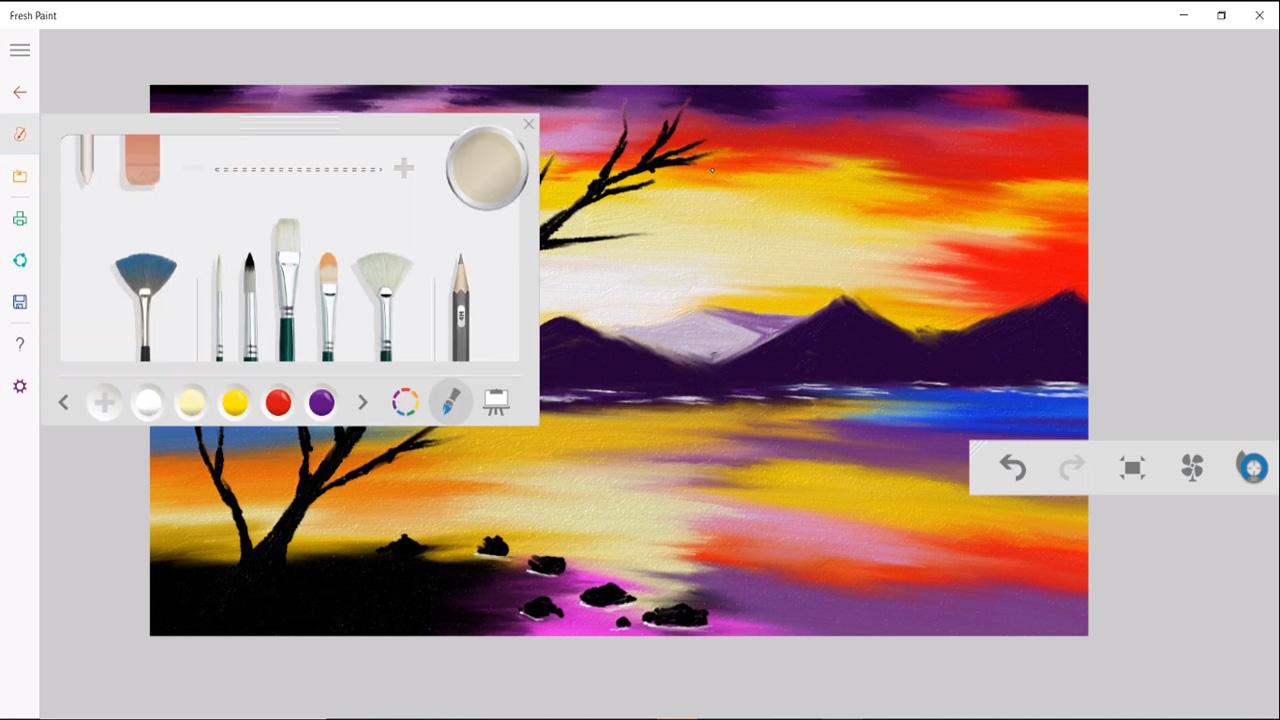 Microsoft Fresh Paint çizim programı