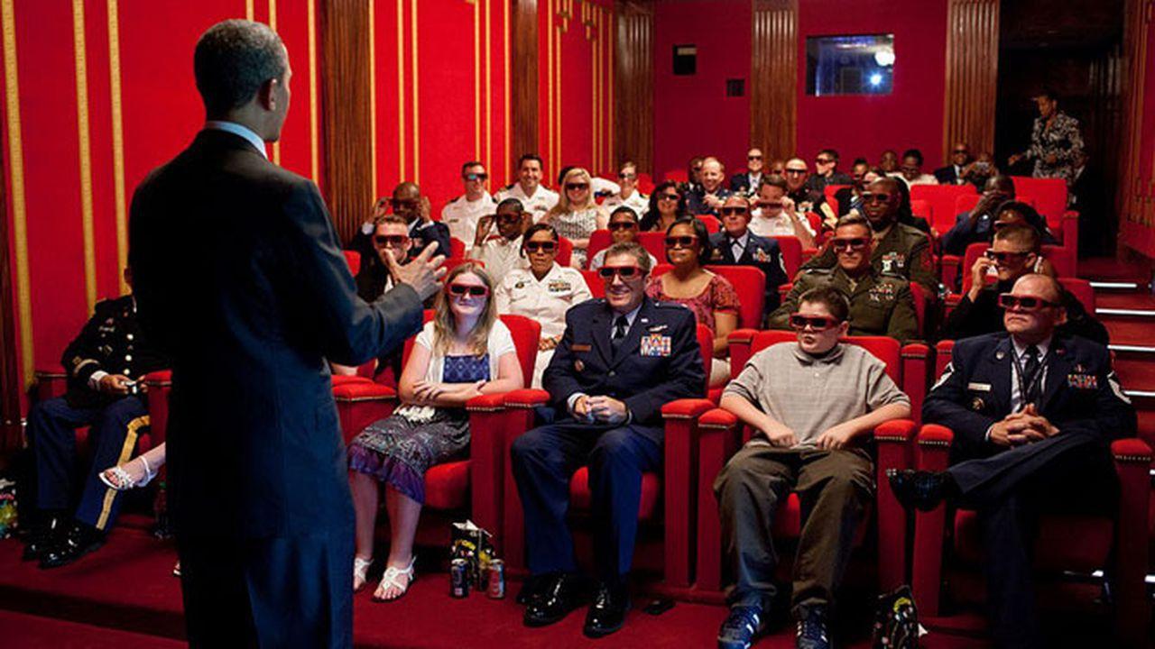 abd başkanı, sinema salonu