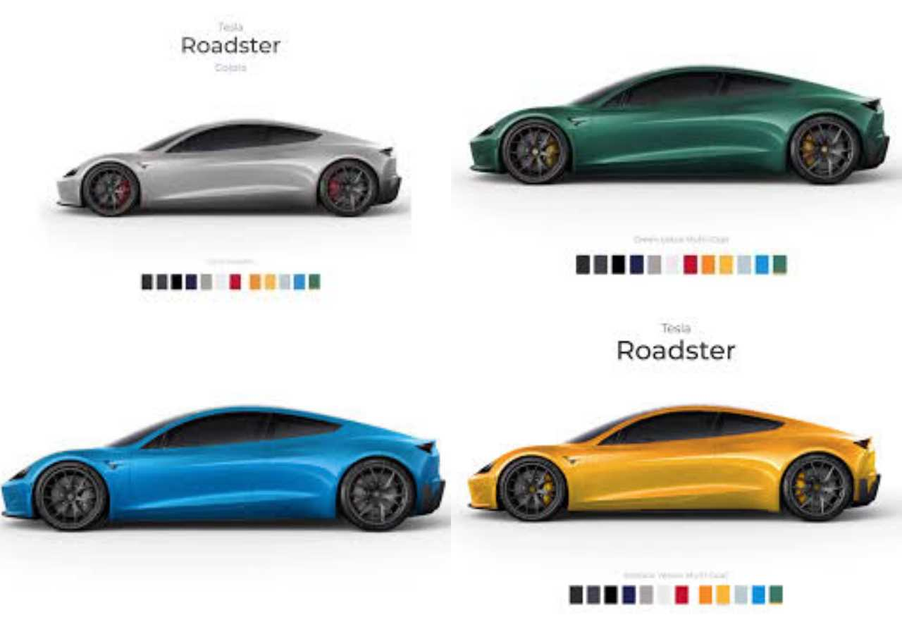 yeni tesla roadster renkler 3