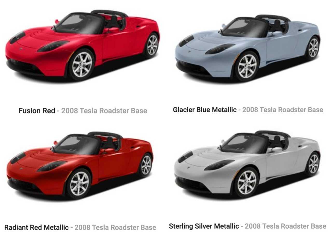 2008 roadster renkler