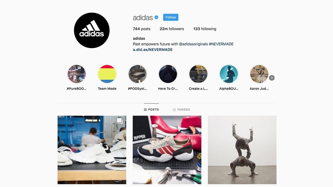 adidas, instagram
