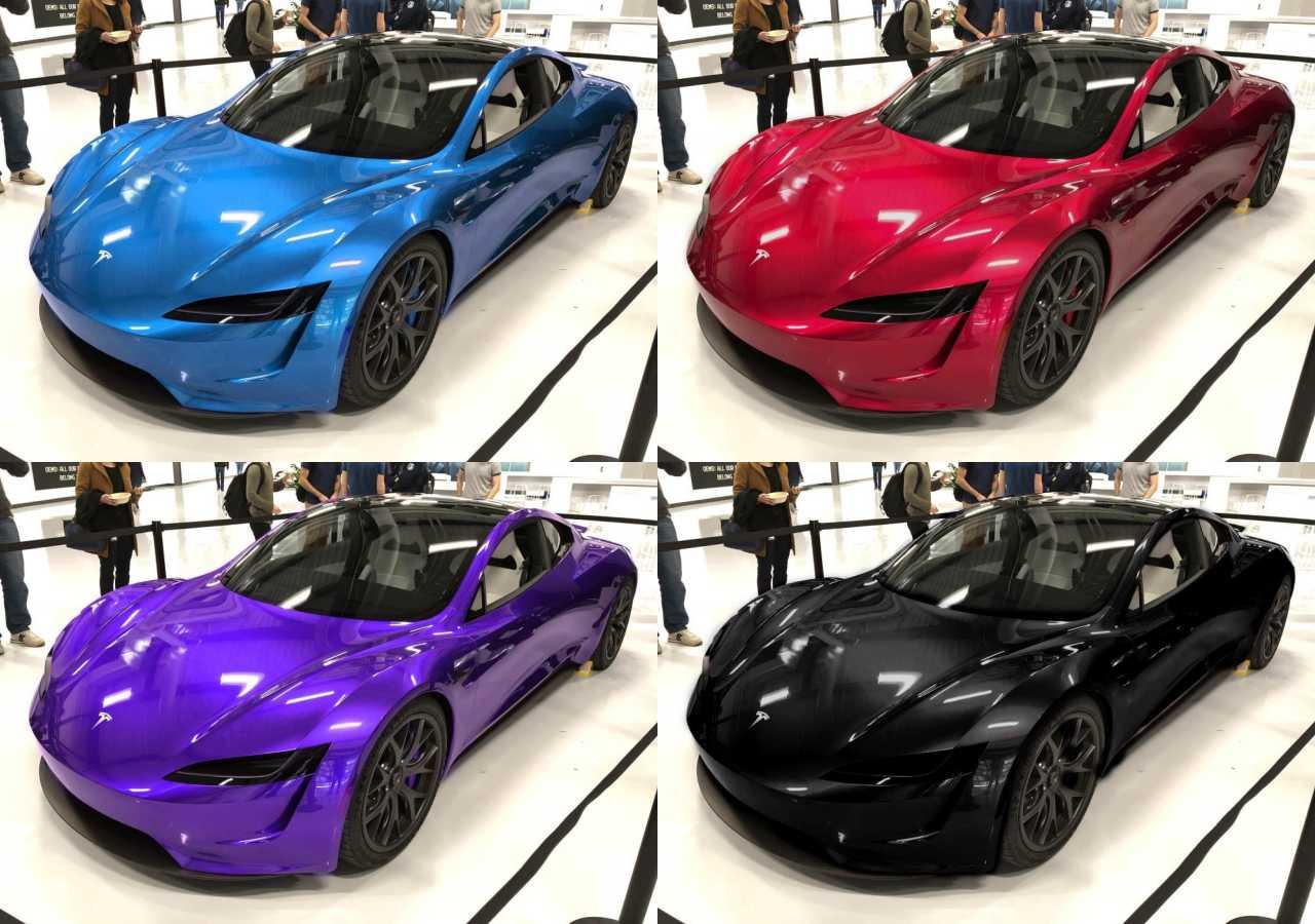 yeni tesla roadster renkler 2