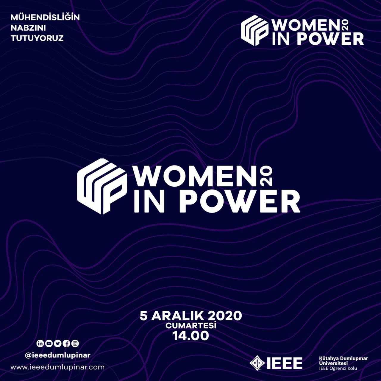 Women in Power, 5 Aralık'ta DPÜ'de