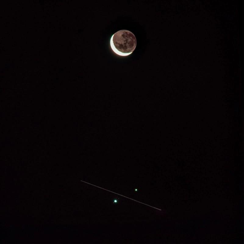 Satürn, Jüpiter, ISS