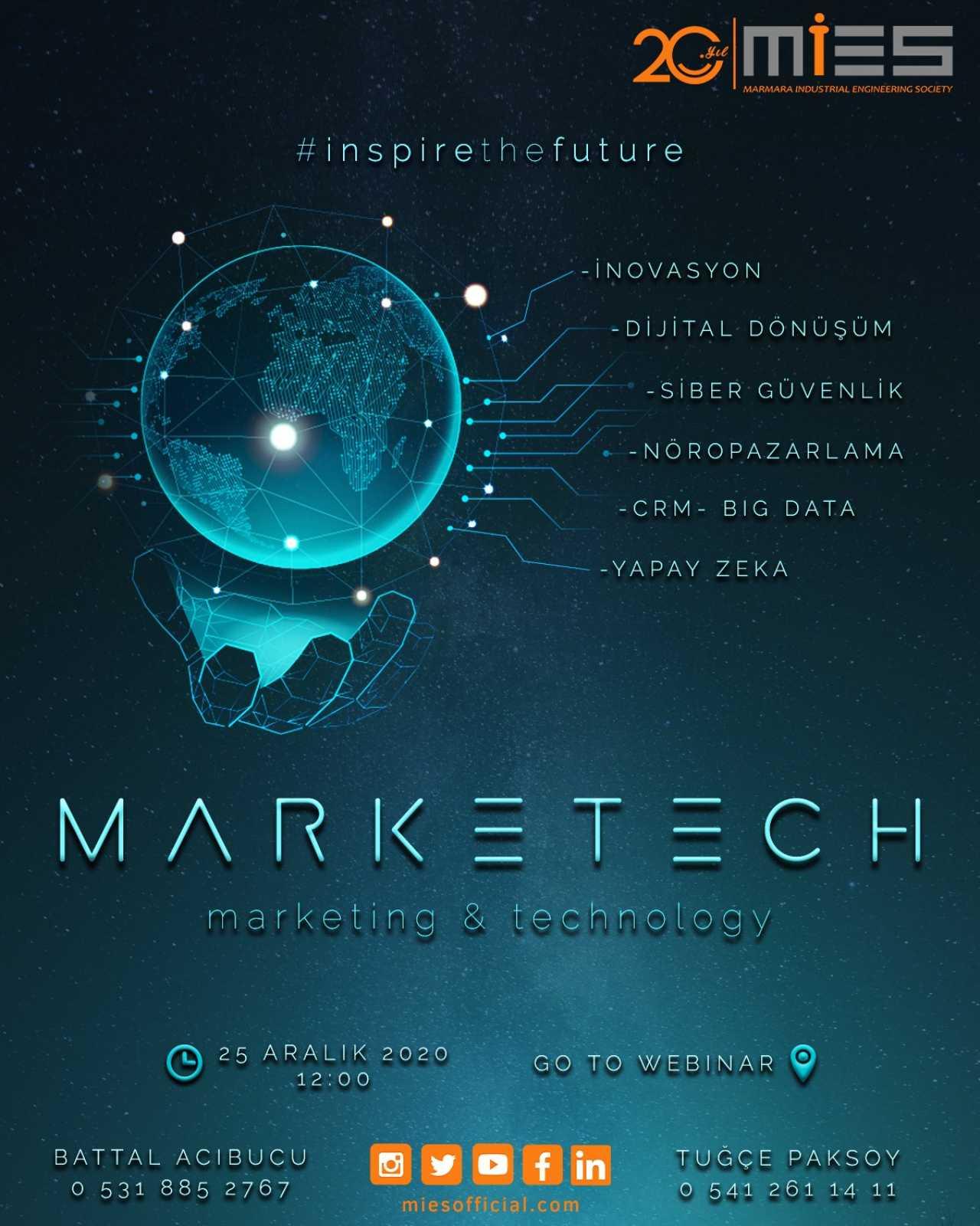 MarkeTech 2020, 25 Aralık'ta Online Gerçekleştirilecek