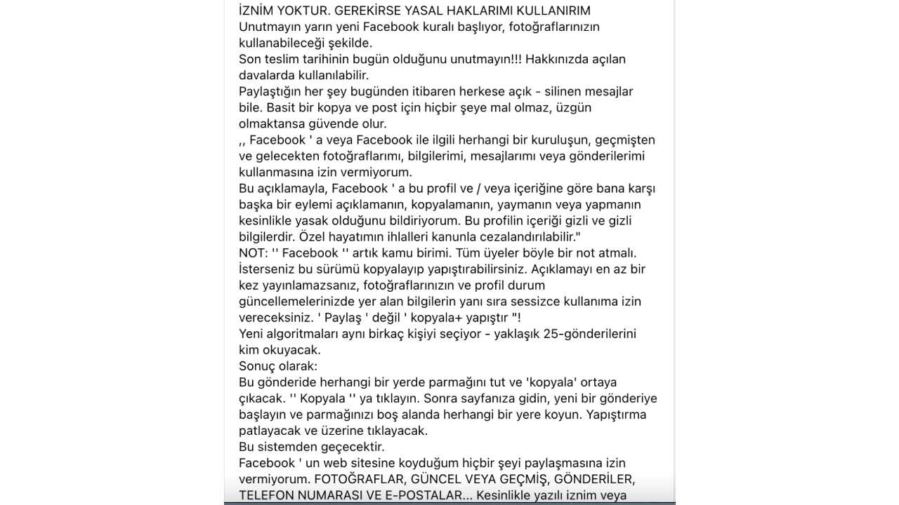 facebook paylaşım