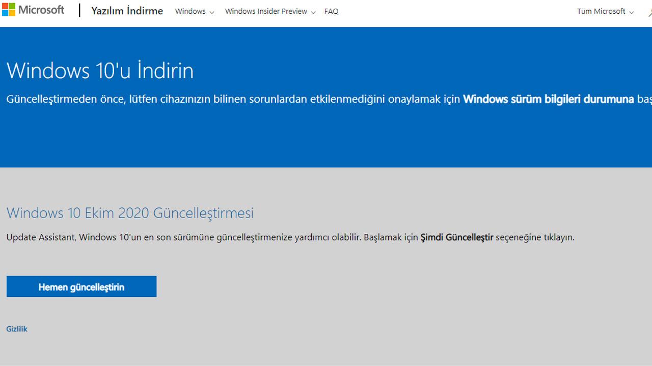 windows 10 indirme