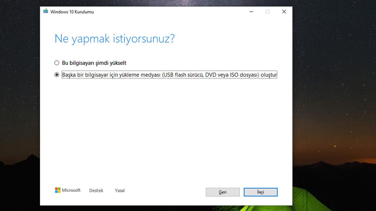 windows kurulum aracı