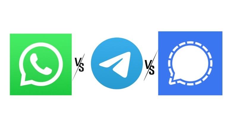 WhatsApp, Telegram, Signal