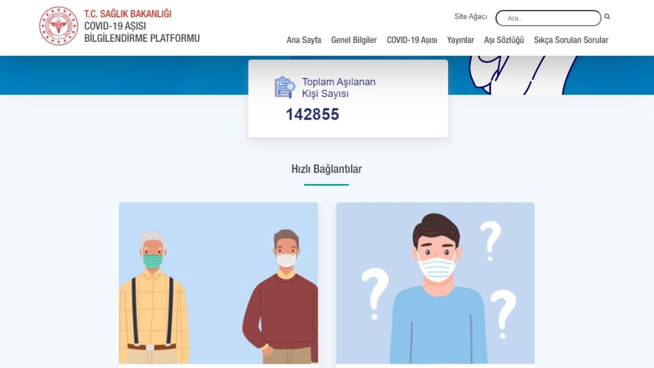 Toplam Kaç Kişinin COVID-19 Aşısı Olduğunu Gösteren WebSitesi
