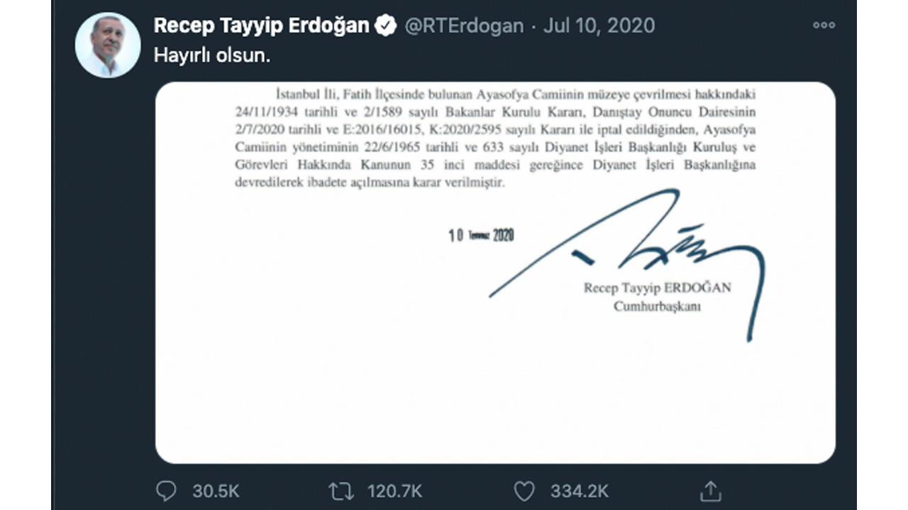 Erdoğan twitter