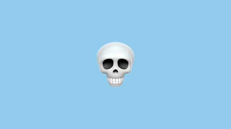 Kurukafa emojisi