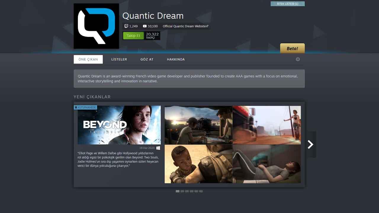 Quantic Dream Steam