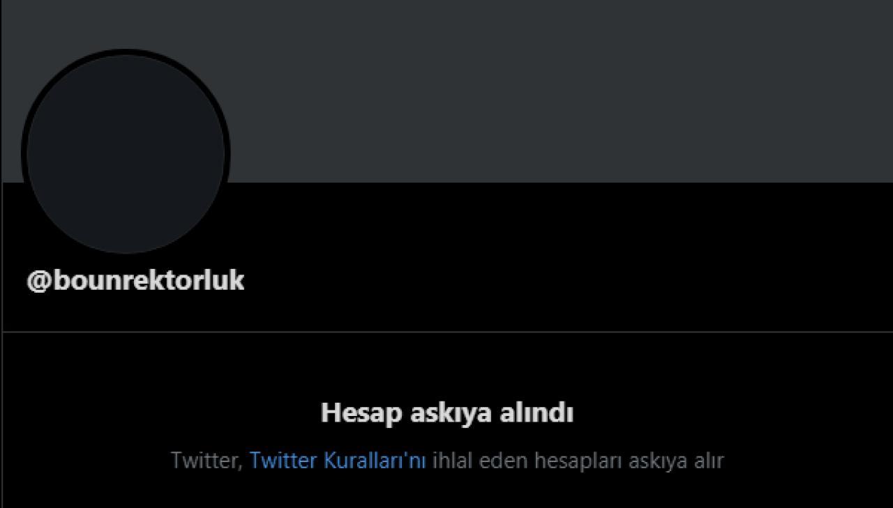 boğaziçi üniversitesi rektörlüğü twitter