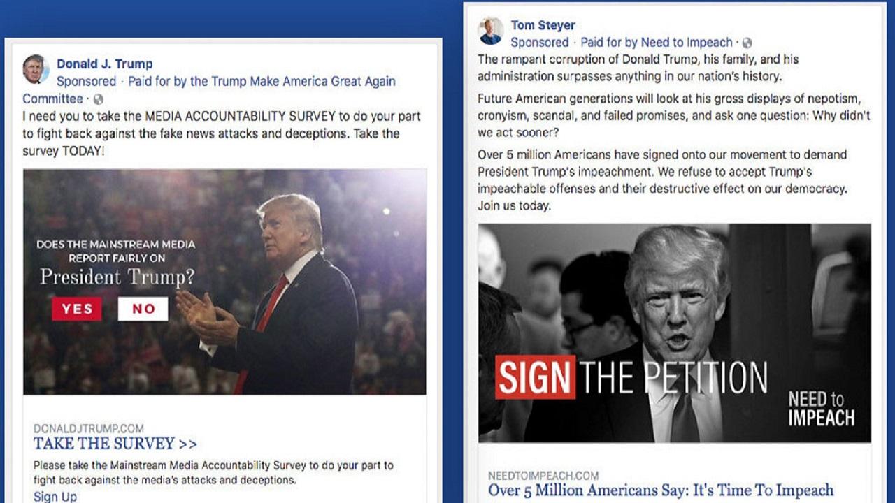 Trump Facebook reklamları