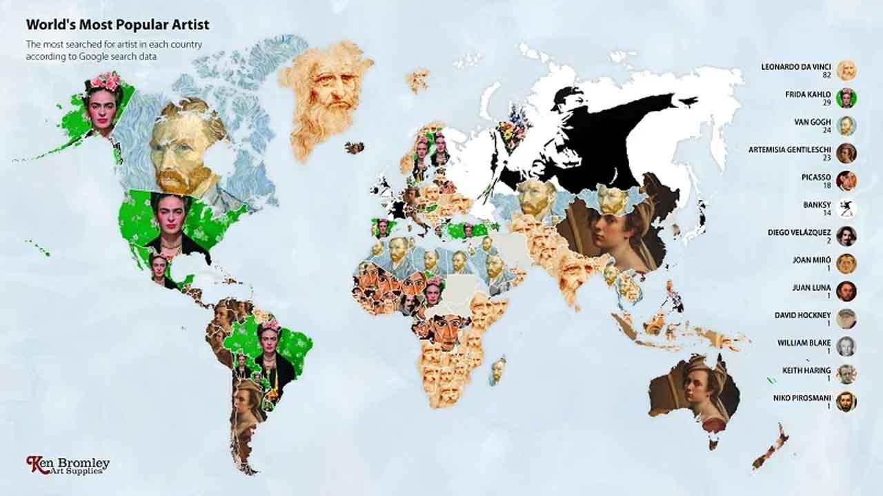 Dünya genelinde en çok aranan sanatçılar