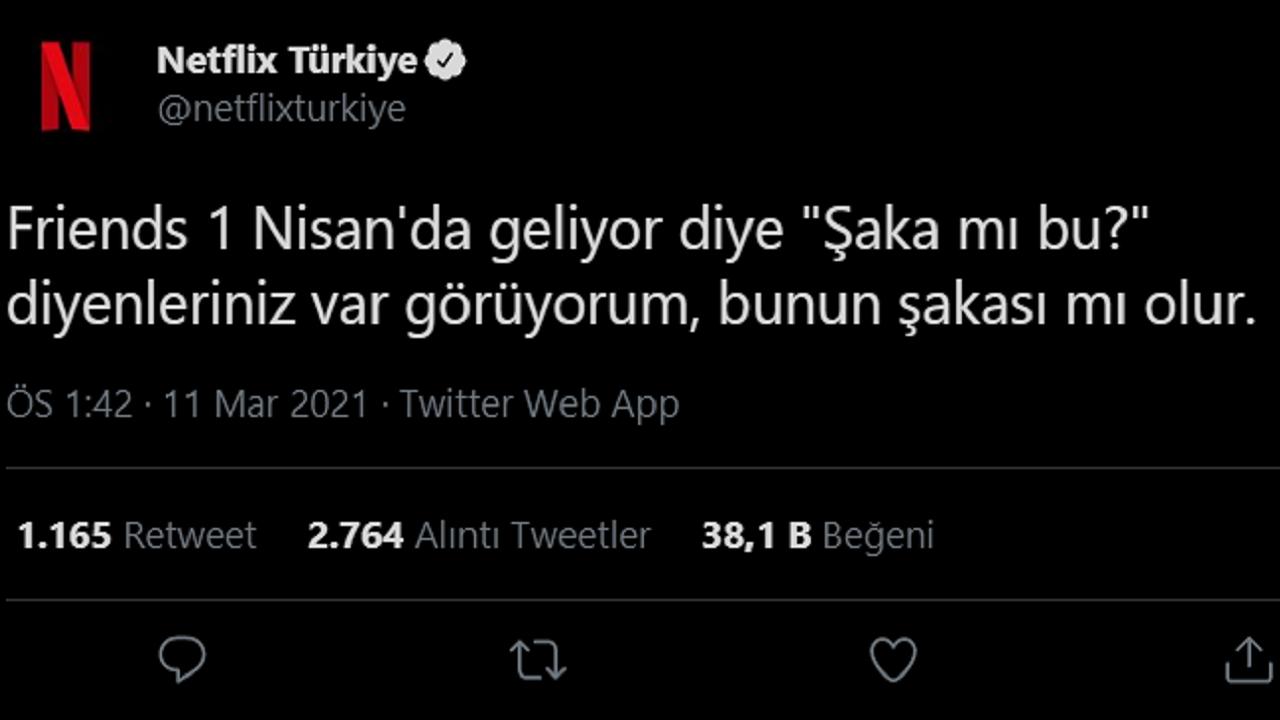 Netflix Türkiye Friends
