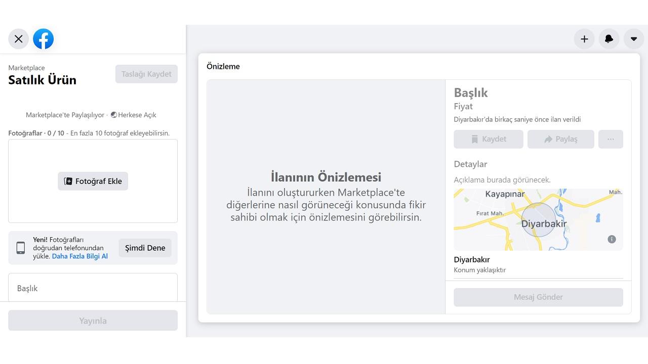 Facebook Marketplace nedir