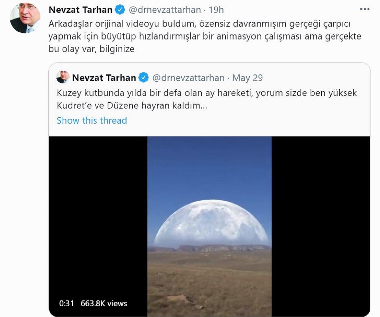 Nevzat Tarhan tweet