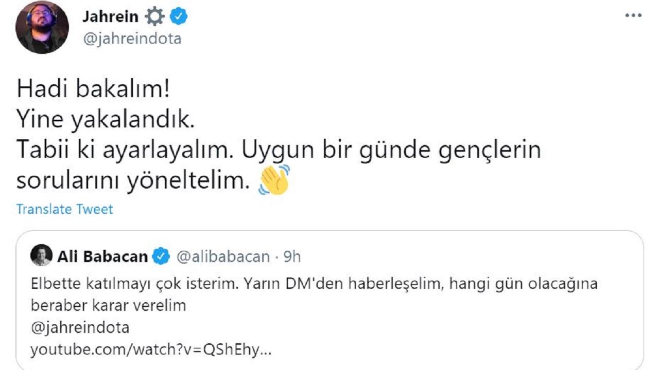 Ali Babacan Jahrein