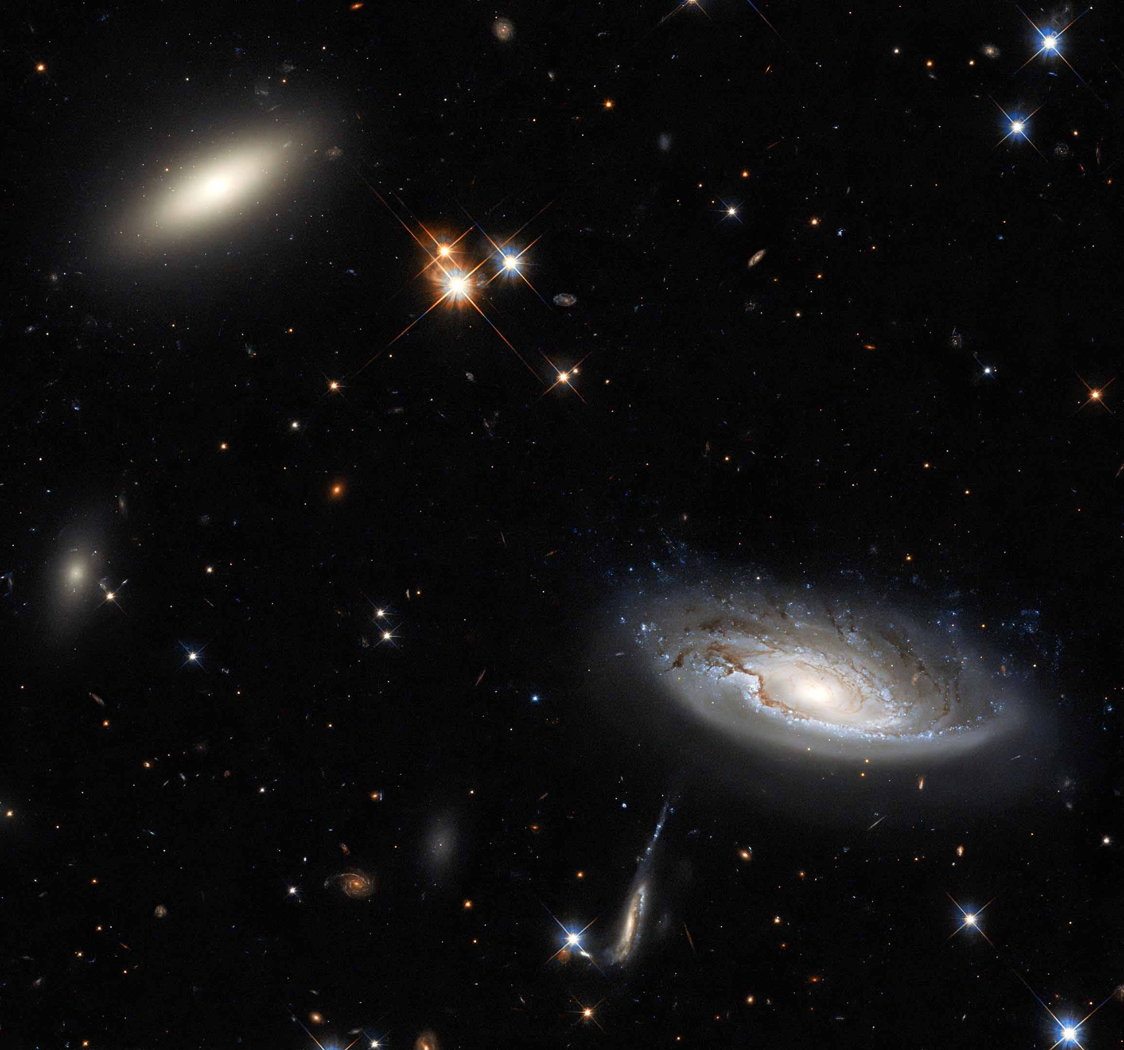 Two Galaxies 350 Million Light Years Distant in a Frame 2