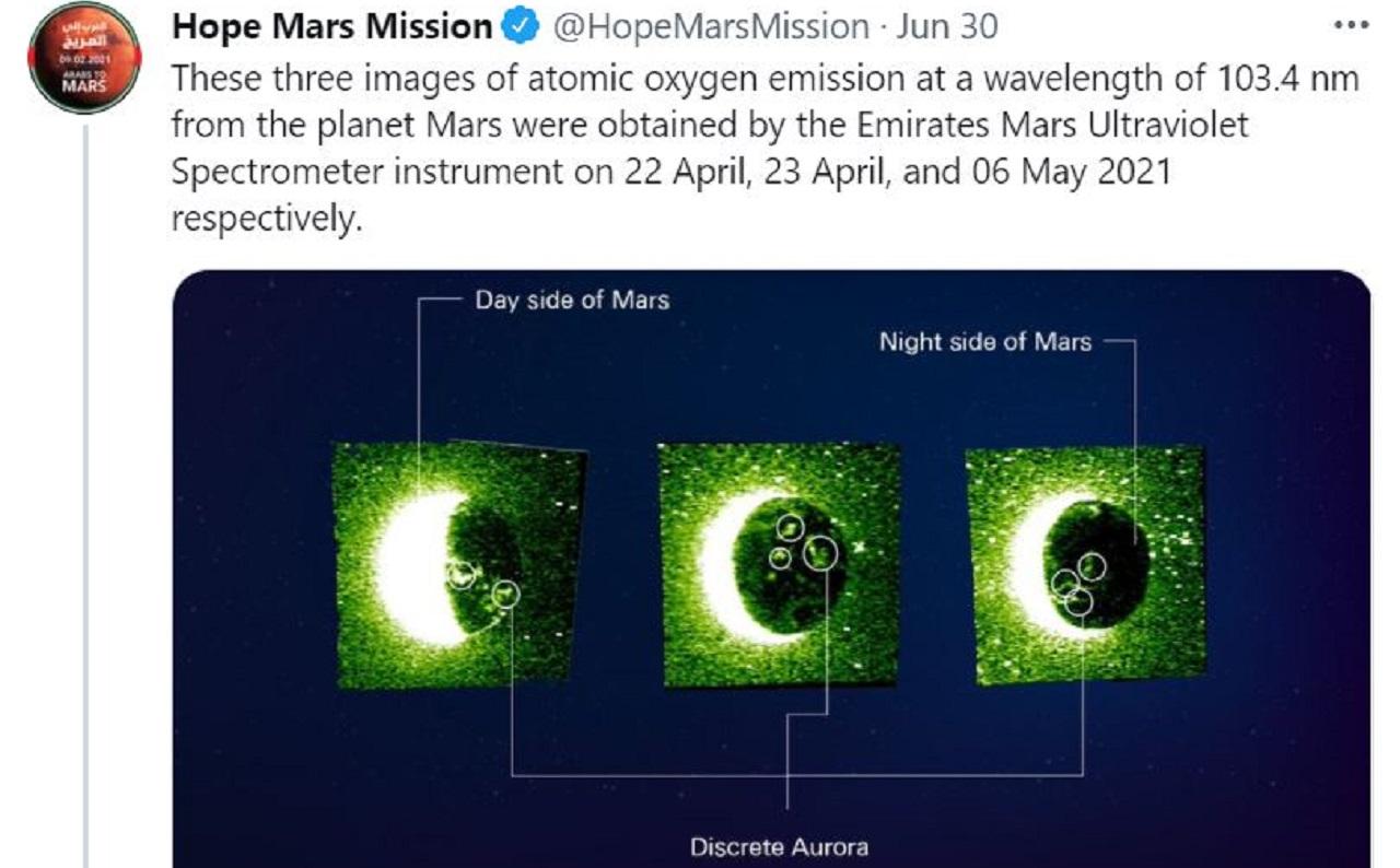 UAE Mars Orbiter Displays Mars Auroras 2