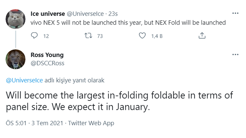Vivo's Foldable Model May Be Announced This Year 2