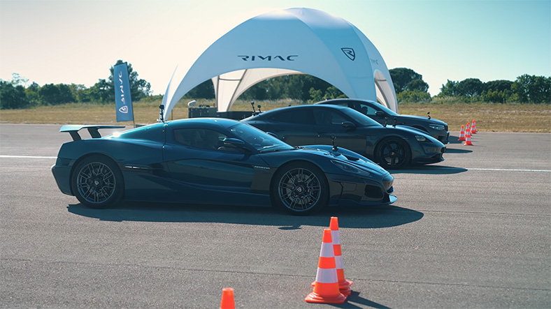 M5, Taycan Turbo and Nevera
