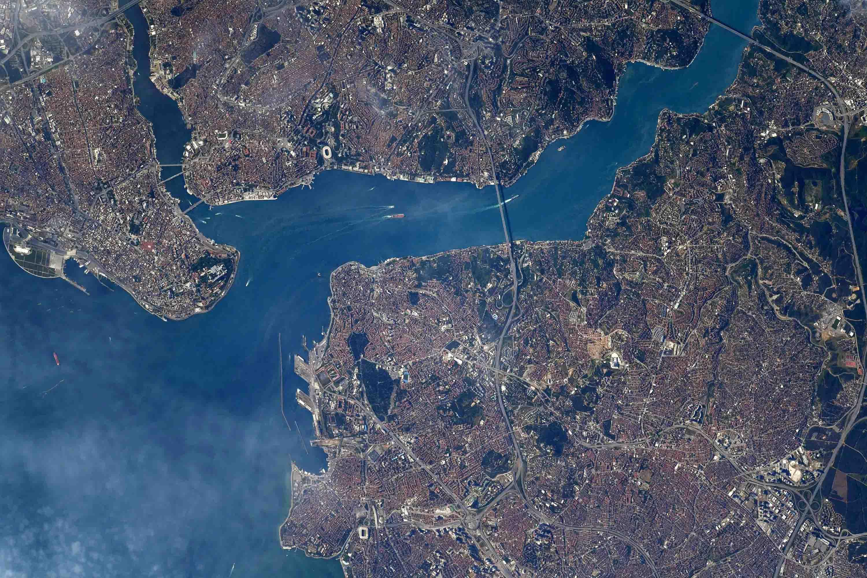 NASA Astronavtı İstanbuldan Kosmosdan Çəkilən 'Şeir' şəklini paylaşdı