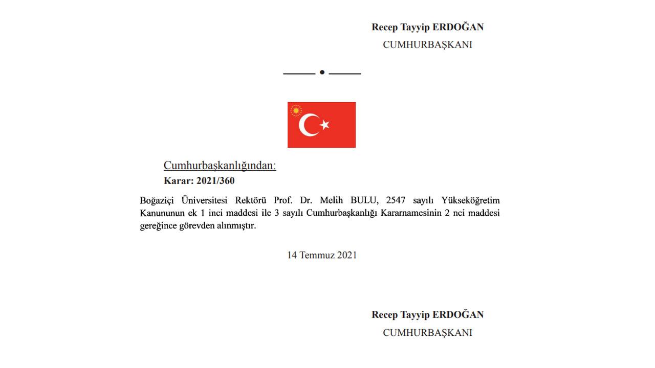 Boğaziçi Üniversitesi'nin Tartışmalı Rektörü Melih Bulu Görevden Alındı