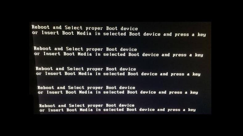 'Reboot And Select Proper Boot Device' Hatası ve Çözümü